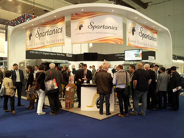Spartanics Stand #9G38 at the 2013 Labelexpo Europe Show in Brussels.