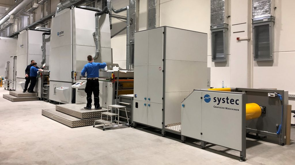 Operating Systec Flatbed Web screen printing line 1500x1300mm